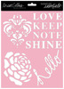 Shine 8 x 10 Stencil - Signature Essentials - Teresa Collins