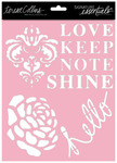 Shine 8 x 10 Stencil - Signature Essentials - Teresa Collins