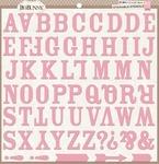 Alphabet 12 x 12 Stickable Stencil - Bo Bunny