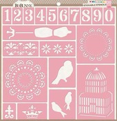 Bliss 12 x 12 Stickable Stencil - Bo Bunny