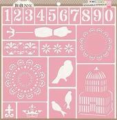 Bliss 12 x 12 Stickable Stencil - Bo Bunny