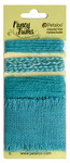 Teal Burlap Fancy Trims - Petaloo