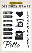 A Week In The Life Clear Stamps - Echo Park
