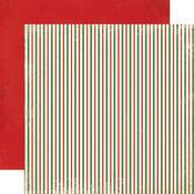 Christmas Stripes Paper - Christmas Time - Carta Bella