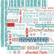 Frosty Words Paper - All Bundled Up - Carta Bella