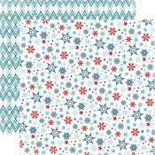 Small Snowflakes Paper - All Bundled Up - Carta Bella