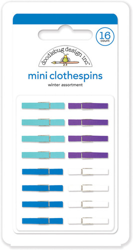 Winter Mini Clothespins - Doodlebug