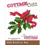 Holly Branch with Bow Die - Cottage Cutz