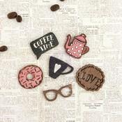 Coffee Break Wood Icons - Prima
