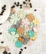 Vanilla Latte Paper Flowers - Coffee Break - Prima