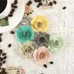 Iced Coffee Assorted Paper Flowers - Coffee Break - Prima