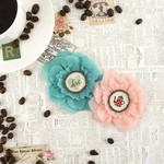 Decaf Custom Paper Fabric Flowers - Coffee Break - Prima