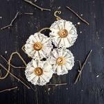Coconut Oahu Fabric Flowers - Prima