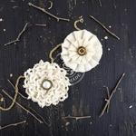 Macadamia Oahu Fabric Flowers - Prima