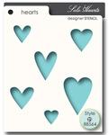 Solo Hearts Stencil - Memory Box