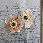 Cinnamon Fairfield Fabric Flowers - Prima