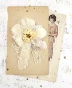 Glaze Avalon Fabric Flower - Prima