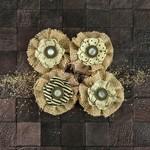 Riesling Capri Fabric & Paper Flowers - Prima