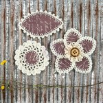 Mauve Pensacola Fabric & Paper Flowers - Prima