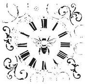 Bee on Time 6x6 Template - Crafter's Workshop