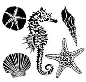 Sea Creatures 6x6 Template - Crafter's Workshop