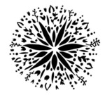 Folk Art Flower 12x12 Template - Crafter's Workshop