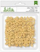 Snowflake Wood Veneer Shapes - Be Merry - American Crafts