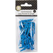 Turquoise Mini Clothespins - Canvas Corp
