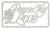 Peace Joy Love Die Cut Chipboard Word - FabScrap