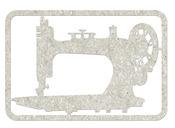 Sewing Machine Die Cut Chipboard Shape - FabScraps