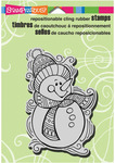 Penpattern Snowman Cling Stamp - Stampendous