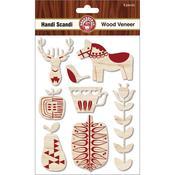 Handi Scandi Wood Veneer Shapes - Ruby Rock - It