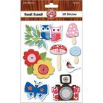 Handi Scandi 3D Stickers - Ruby Rock - It