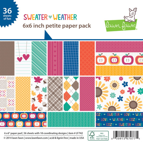 Sweater Weather 6 x 6 Petite Paper Pad - Lawn Fawn