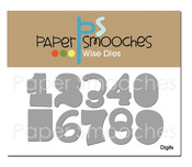 Digits Wise Number Dies - Paper Smooches