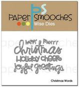 Christmas Words Wise Dies - Paper Smooches