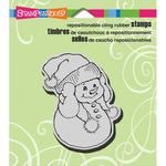 Snowman Warm Ears Cling Stamp - Stampendous