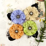 Sprout Fabric & Paper Flowers - Forever Green - Prma