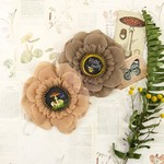 Seedling Fabric & Paper Flowers - Forever Green - Prima