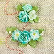 Turquoise Flowers - Winthrop - Prima