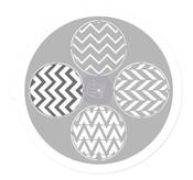 Round 9 Inch Pin Wheel Stencil - Prima