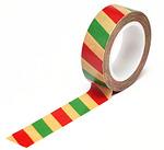 Christmas Stripe Kraft Trendy Tape - Queen & Co