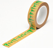 Christmas Trees Kraft Trendy Tape - Queen & Co