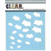Bats 6 x 6 Stencil - Clear Scraps