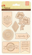 Vivienne Laser Wood Veneer Stickers - Basic Grey