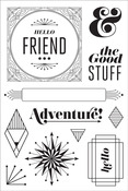 The Good Stuff Clear Stamps - Aurora - Basic Grey