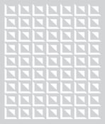 Small Square Grid Stencil - Aurora - Basic Grey