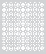 Circles And Squares Stencil - Aurora - Basic Grey