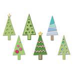 Christmas Trees Triplits Die Set - Sizzix