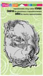 Christmas Cottage Cling Stamp - Stampendous